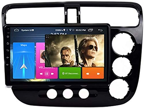LINGJIE Android 8,1 GPS NAVI-Player für Honda Civic (2001-2005) 9-Zoll-Autoradio-Stereo-Multimedia-Navigation-Audio-Split-Bildschirmfunktion (RAM 1G + ROM 16G)