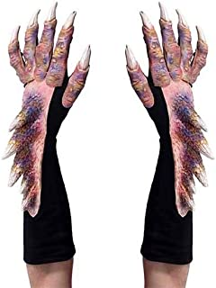 Dragon Gloves Multicolor Flesh Claws Hands Costume Gloves