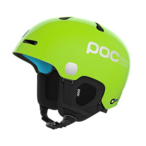 POC Unisex-Youth POCito Fornix Spin Helm, Fluorescent Yellow/Green, MLG