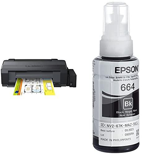 Epson EcoTank ET-14000 - Impresora color (inyección de tinta, con tecnología Micro Piezo), color negro + Cartucho Negro