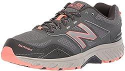 New Balance Damen 510v4 Trailrunning-Schuhe, Stahl Blei Pink Glo, 38 EU