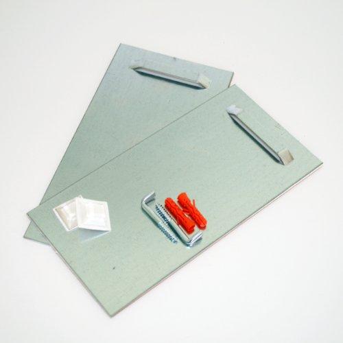 Spiegel-Aufhängeblech inkl. Montageset