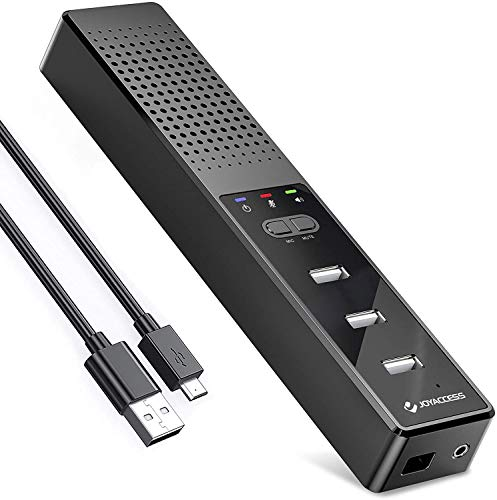 USB Speakers for PC Desktop J JOYACCESS, Computer Mini Speakers with Microphone USB Hub, Portable Laptop Conference Speaker for Zoom/Skype/Online Teaching/Home Office