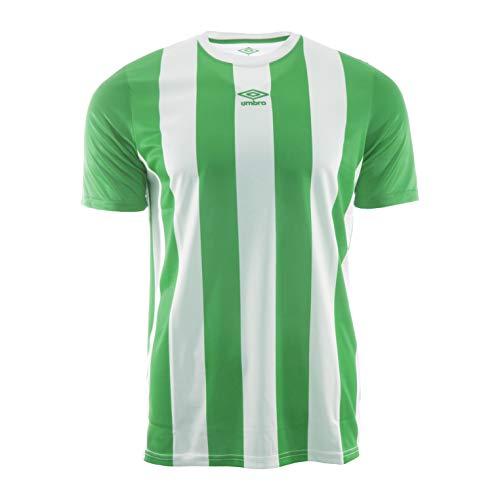 UMBRO Brave Jersey Camiseta De Fútbol, Hombre, Blanco y Verde, M