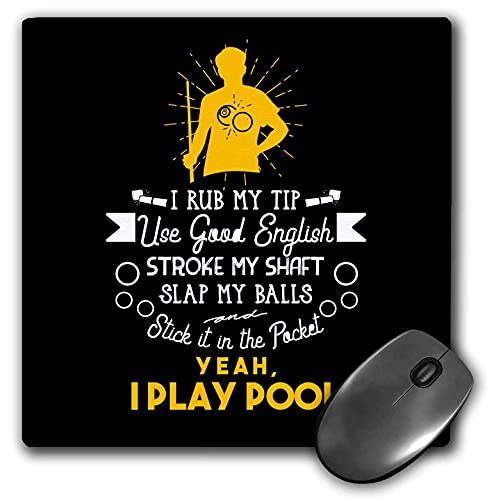 3drose sven herkenrath billiard - ja ich spiele pool billiard snooker ich rup mein tipp - mousepad (mp_320752_1)