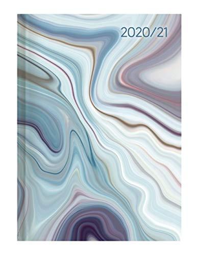 Campustimer Blue Marble - A5 Semester-Planer - Studenten-Kalender 2020/2021 - Notiz-Buch - Marmor - Weekly - Alpha Edition