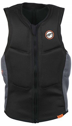 Prolimit Half Padded Front Zip Slider Impact Vest Black/Orange 63032 Size - XL