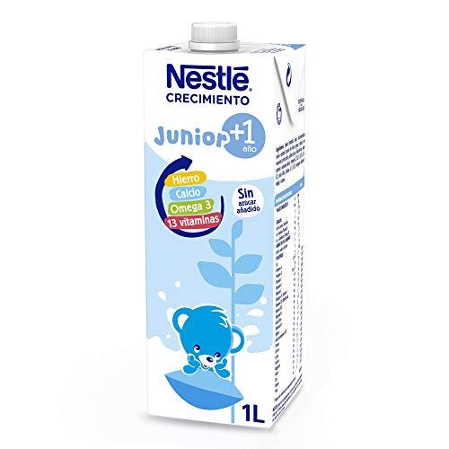 NESTLÉ JUNIOR 1+ Original - Leche para niños a partir de 1 año - 1L