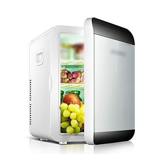 Mini refrigerador y calentador eléctrico más fresco for HYUNDAI coches y Home 13,5 l coche de refrigerador, bloqueo automático de la manija Refrigerador portátil for coche (Color: Negro y plata) 1yess