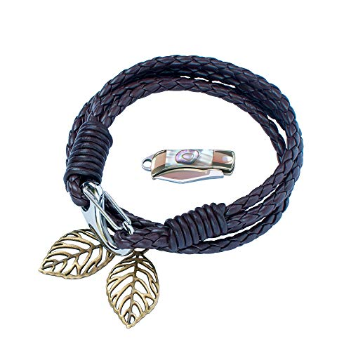 Veerla Beautiful Shell Smallest Knife Install On The Necklace,Bracelets,Keychain or Pocket Wallet As Survival EDC Tool Easy to Carry. (Colorful Sheel)