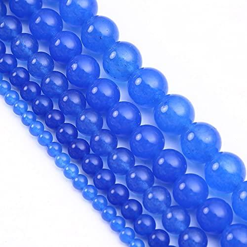 YUXIwang Pulsera Púrpura Azul Rojo jades de Las Cuentas de Piedra Natural Redonda de Las Perlas espaciadoras Sueltas para la fabricación de Joyas 4 6 8 10 12 mm Pulsera de Bricolaje