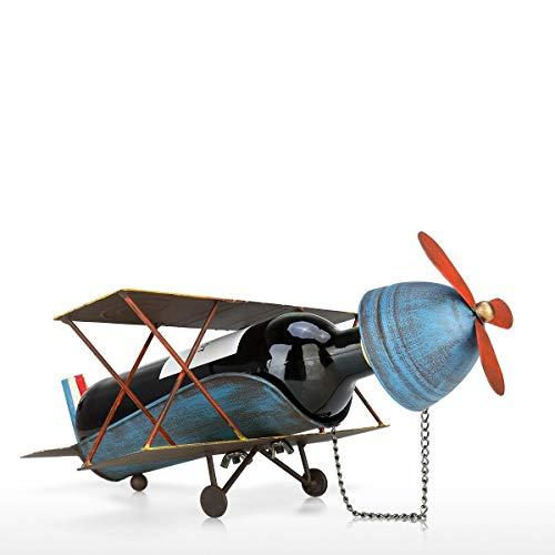 YJWKR Sculptuur decoratie Vliegtuig Wijnrek whisky vino Metalen Wijnfles Houder Tafelblad Drinkstandaard Decoratieve Wijnhouder standaard voor wijnflessen