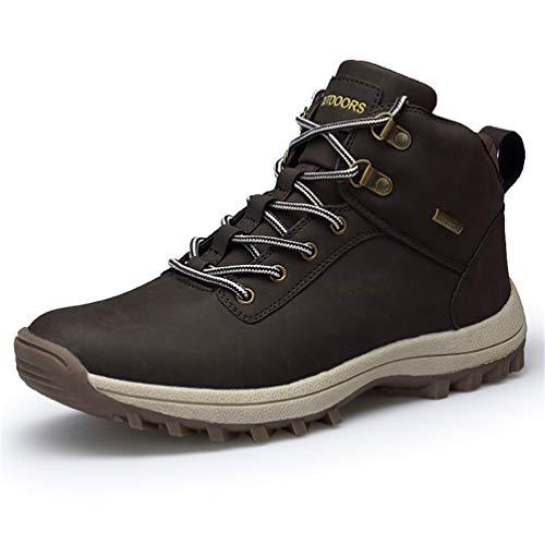 Qianliuk Männer Stiefel High-Top-Herren-Sneakers rutschfeste Herbst Winter Spitze im freien Bergmänner Schuhe wasserdichte Wanderschuhe für Männer