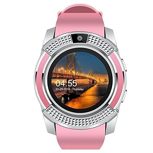 chengjinhuashangmao Smart Watch Tarjeta de círculo Completo Teléfono Bluetooth Sleep Podómetro Smart Watch Anillo (Color : A)