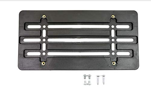 License Plate Tag Holder Mount Mounting Relocator Adapter for Front Bumper Kit...