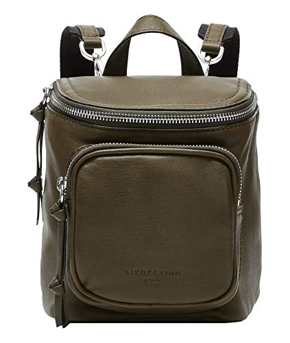 Liebeskind Berlin Tamora Backpack Rucksackhandtasche, Extra Small (19 cm x 16 cm x 9cm), umber green