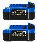 Kobalt 24-Volt Max 2-Pack 4 Amp-Hour; 4 Amp-Hour...