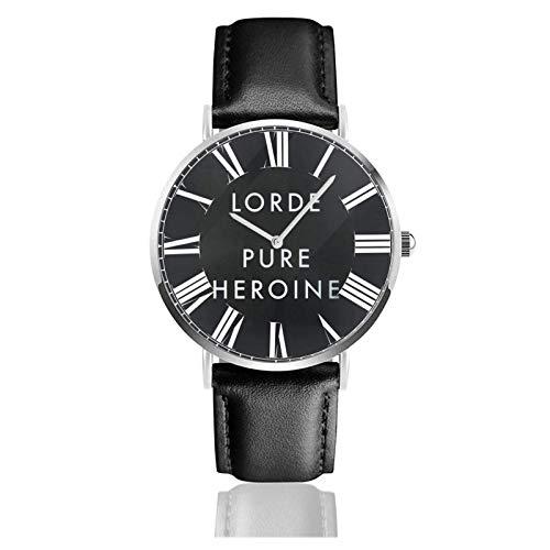 Reloj de Pulsera Lorde Melodrama Durable PU Correa de Cuero Relojes de Negocios de Cuarzo Reloj de Pulsera Informal Unisex