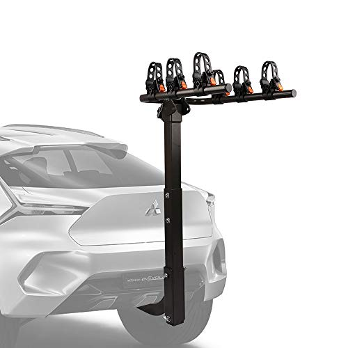 ZESUPER 3-Bike Rack Heavy Duty Bicycle Carrier for Cars, SUVS, Trucks, Vans and Minivans with a 2'' Hitch Receiver Rack Hitch Mount