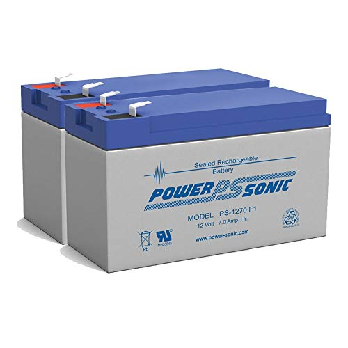 PS-1270 - POWER-SONIC 12V 7AH SLA BATTERY - PACK OF 2