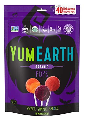 YumEarth Organic Halloween Lollipops, 40 lollipops