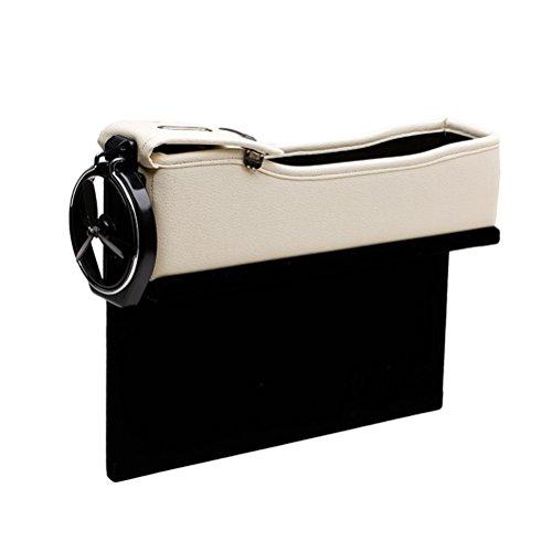 Zhhlinyuan Siège auto Catcher Poche Latérale de Console avec Porte-Gobelet Boîte de Rangement multifonctionnelle de Siège pour Voiture en Cuir PU Organiser-interior Accessoires