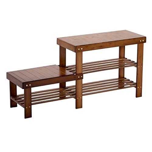 Busirsiz Zapatos de cambio de heces de bambú de estilo europeo sofá heces moderna simple de almacenamiento de las heces Nan bambú multifuncional zapatero zapato Gabinete niños taburete de madera maciz