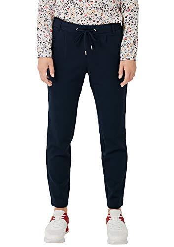 s.Oliver RED Label Damen Regular Fit: Tapered Leg-Hose im sportiven Look Dark Blue 44