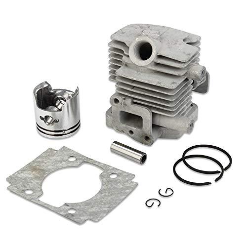 Decdeal Générique Cylindre Piston Segments Pin Pièce de Moteur pour Tronçonneuse(Cylindre de Taille-haie 32)