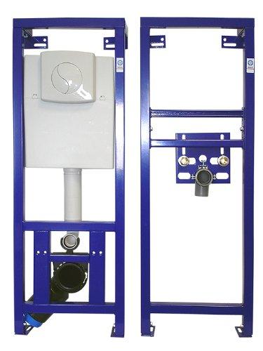 NMT, WC und Waschtisch Vorwandelemente Set inkl. Schallschutzsets, 2 Eckventile und Testpäckchen mit WC-Reinigertabs