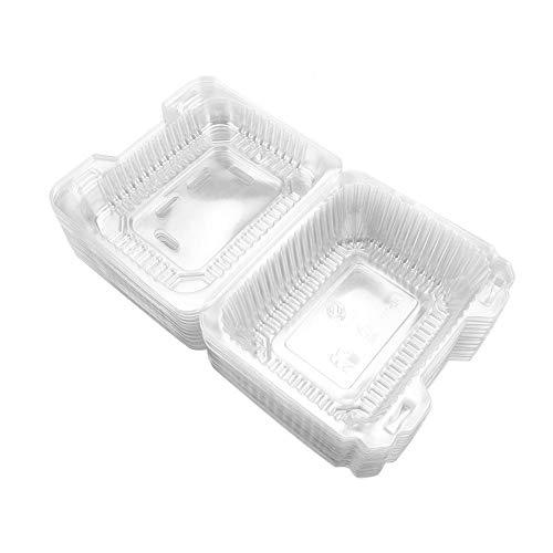 TOPINCN Comida desechable Conjunto de Cajas Transparente BPA Tapa hermética para pastelitos Paquete de contenedores de Almacenamiento 50 unids