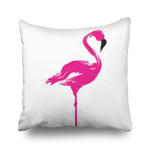 TonTong Gooi Kussen Covers Flamingo Vogel Wildlife Tekenen Symbolen Aangepaste Decor Kussenslopen Aangepaste Home Decoratieve Cases Kussen Kussenhoezen