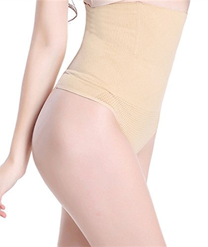 HOLYSNOW Junior Hi-Waist Trainer Buttocks Push Up Enhancer Body Shaper Beige S
