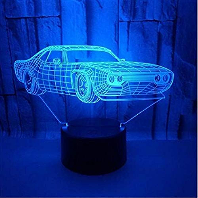 Led-leuchten Edison Lights 3D Auto Visualisierung Optische Tuschung Lampe 7 Farben ndern Schreibtischlampe