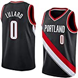 YCQQ Jersey Baloncesto Masculino, NBA Portland Trail Blazers # 0 Damian Lillard, Classic Sport Sports sin Mangas Ropa Camiseta, Telas Comfort Uniformes, Camiseta Deportiva(Size:XXL187-198,Color:G1)