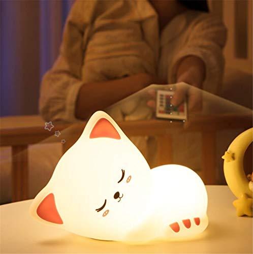 Wiederaufladbare Silikon Nachtlicht Katze Nachtlampe Bunte Berührungssensor Schlafzimmer Nachttischlampe für Kinder Baby Kinder Nachtlicht