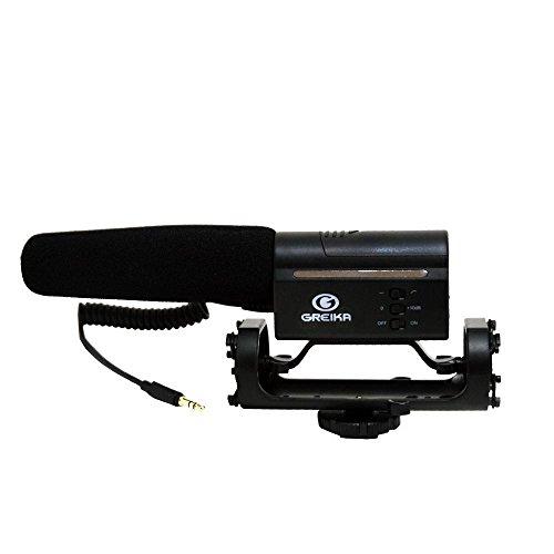 Microfone Direcional Condensador Greika Gk-sm10 para Câmeras Dslr