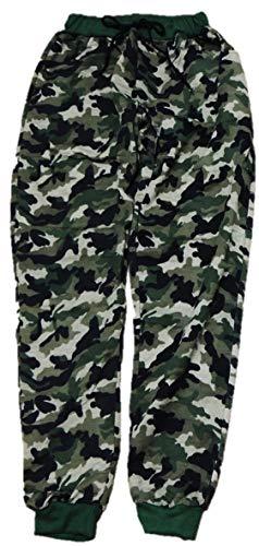 VanessasShop jongens joggingbroek camouflage in de maten 152-188