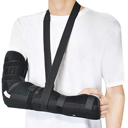 Ellenbogenorthese mit Schlinge Ellenbogenorthese PM Night Splint Ellenbogen Arm Unterarmorthesen Support Splint Orthese Einstellbare Wegfahrsperre Strap Wrap Sleeve Protector