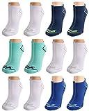 Avia Pro Tech - Calcetines acolchados de malla de microfibra para mujer (12 unidades) -  Azul -  Tamaño del zapato: 34-40 EU