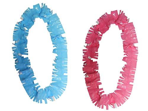Lote de 100 Collares Decorativos de Plástico Bicolor. Artículos de Cotillones. Complementos para Fiestas y Eventos. Decoración Original para Nochevieja, Bodas, Comuniones y Cumpleaños.