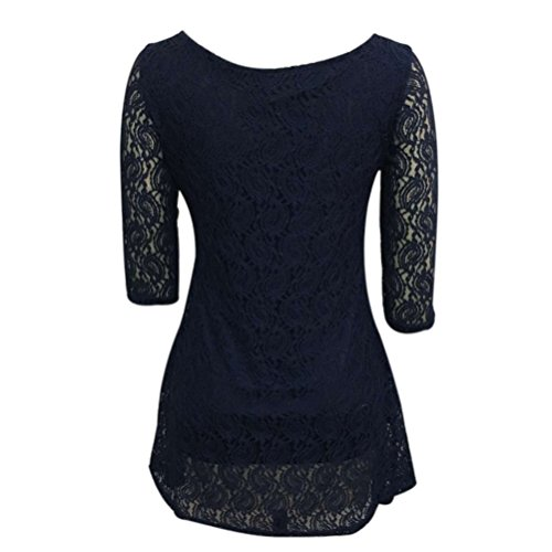 Women Dress,Neartime Lace Lady Party Evening Short Mini Dress (XL)