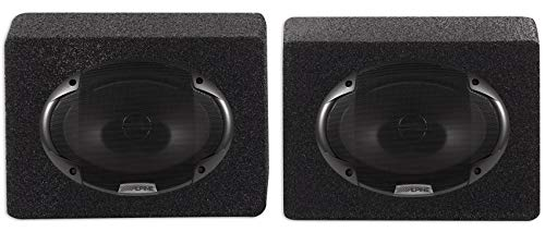 "(2) Alpine SPE-6090 6"" x 9"" 2 Way Car Stereo Speakers Totaling 600 Watts Bundle with (2) Rockville RS6x9PR Car Audio 6x9"" Wedge Sealed Speaker Box Enclosures"