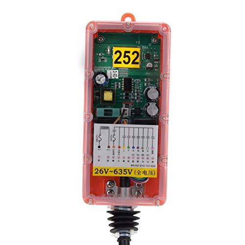 Mxzzand Interruptor de Control Remoto Industrial Interruptor de Control Remoto de grúa inalámbrico para maquinaria minera para maquinaria Industrial(26V-635V)