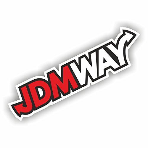 foliezentrum 1x JDM Way 17 x 4,5 cm sticker Tuning 348 Shocker Auto JDM OEM Dub Decal Sticker Illest Dapper Oldschool Folie