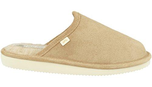 RBJ leather shoes .Dames pantoffels van lamsvel leer en natuurlijke wol