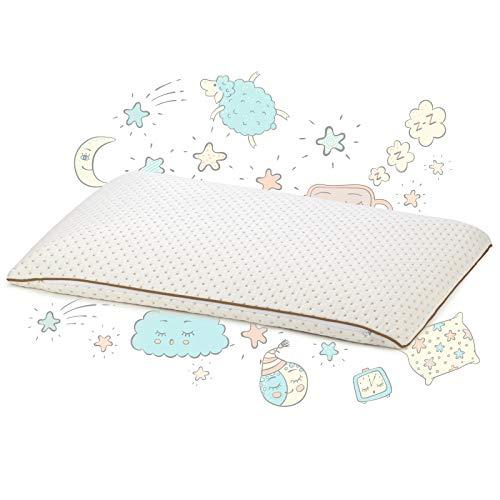 Almohada Infantil Vitapur, 40x60 cm - 100% látex - Lavable, Hipoalergénico, Certificado Oekotex-100 - para Niños de 12 Meses en Adelante