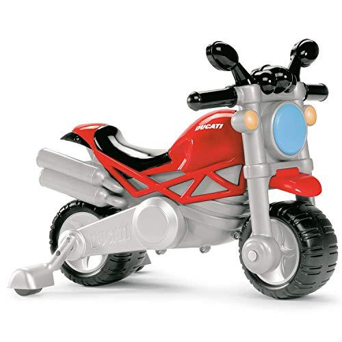 Chicco Ducati Monster Moto Giocattolo per Bambini, Gioco Cavalcabile con Clacson e Rombo Sonoro, Ruote di Supporto Rimuovibili, Max 25 Kg, Giochi per Bambini 18 Mesi, 5 Anni