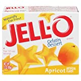 Jell-o Apricot Flavor Gelatin 3 oz - 24 Unit Pack