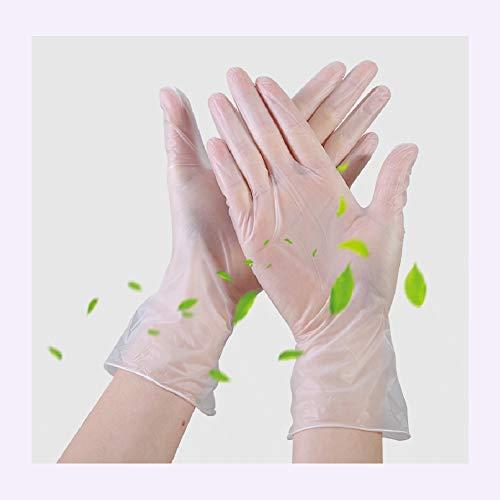 Wegwerpver PVC Beschermende Handschoenen, Duurzaam Food Grade Handschoenen Voor Heldere, Examen, Schoonheid, Tatoeage, Koken, Prevent Virus Infection |100 PCS,S